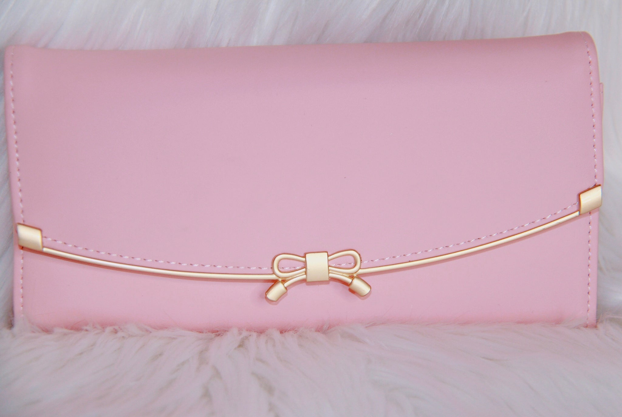 Beautiful Classy Bow wallet - Classy Pink Boutique