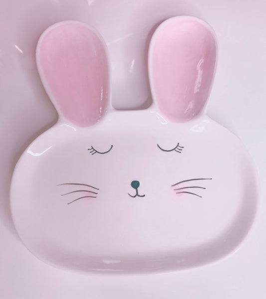Bunny decor plate - Classy Pink Boutique
