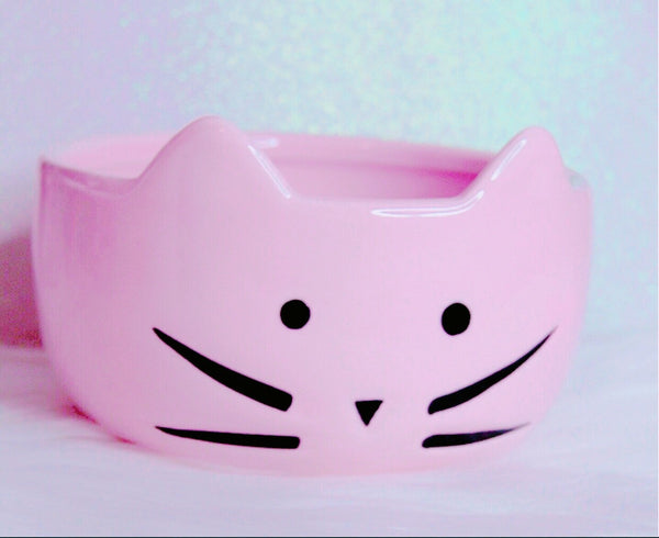 Pink Kitty Bowl