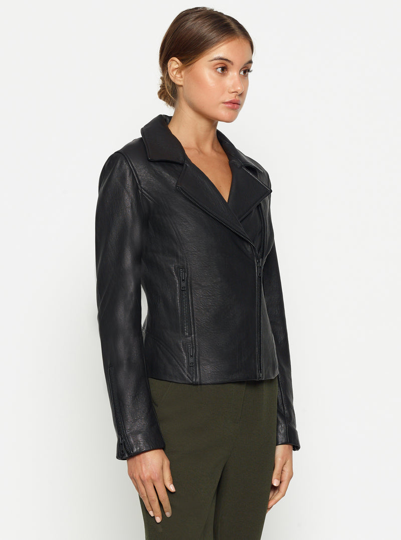 Born To Be Wild Crop Leather Jacket