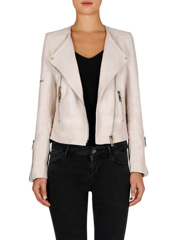 Born To Be Wild Leather Jacket - Bare Beige