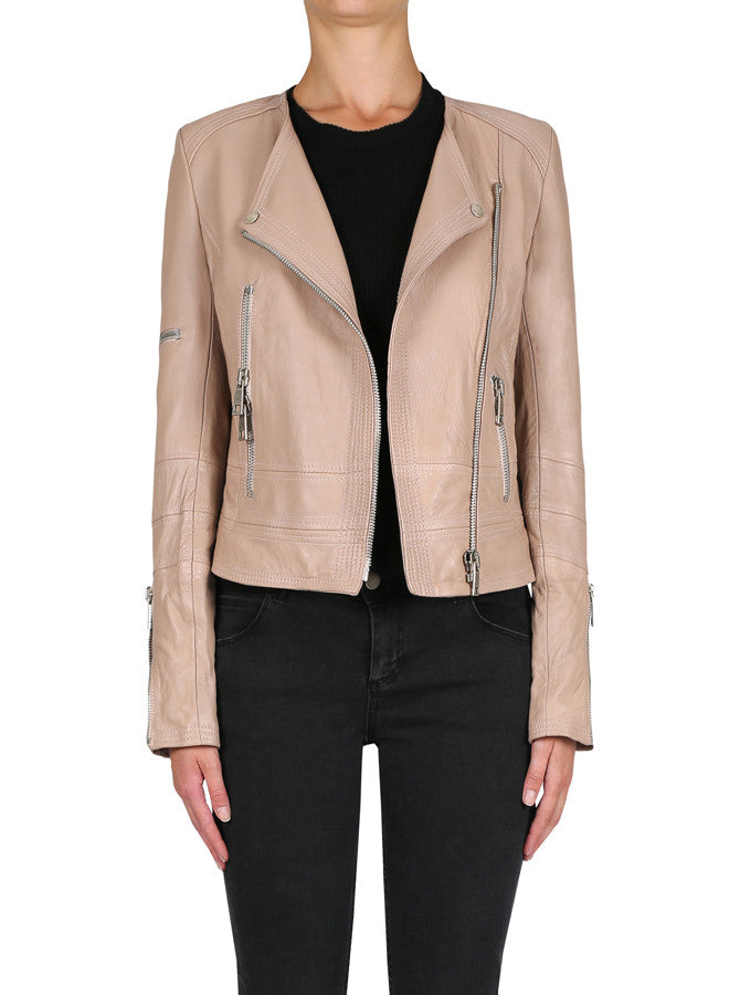 Born To Be Wild Jacket - Rose Beige