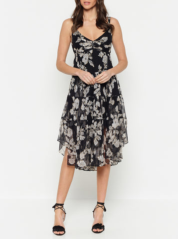 Butterflies Mini Ruffle Dress