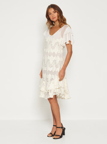 Heartbreaker Mini Dress - Ivory