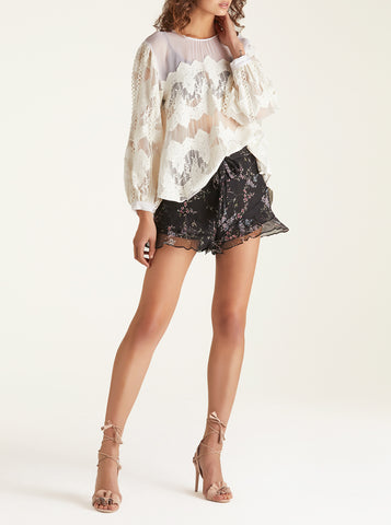 Heartbreaker Balloon Sleeve Blouse - Ivory