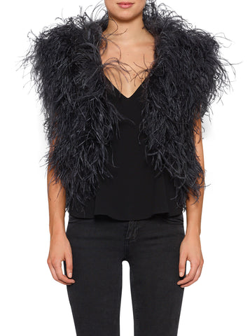 In Full Plume Vest - Graphite
