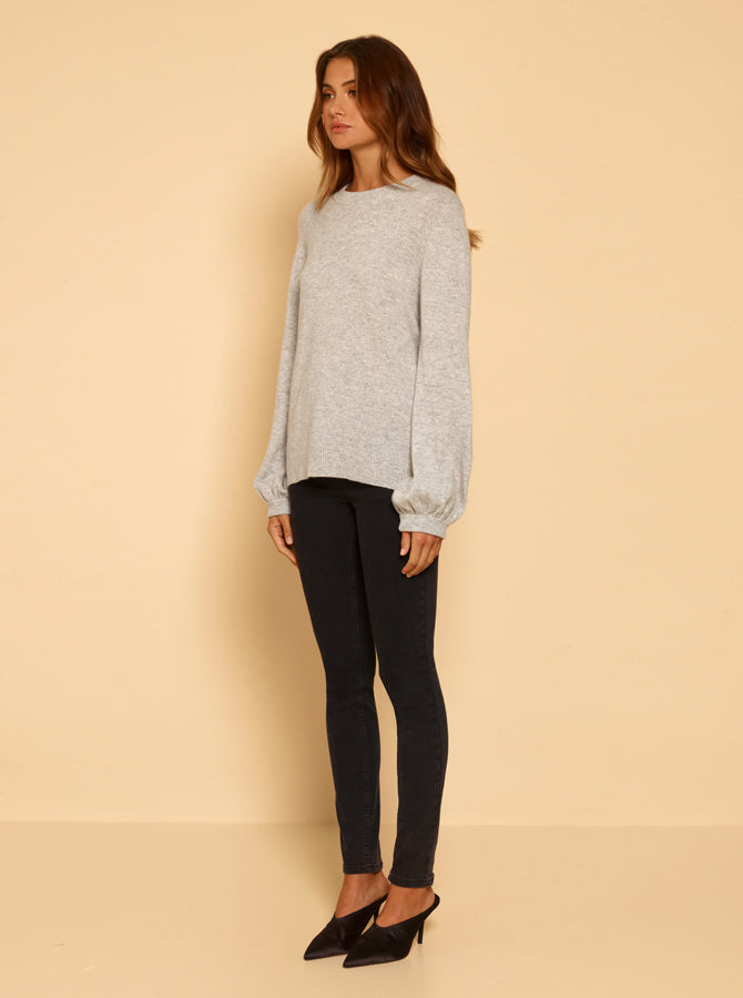 Superluxe Balloon Sleeve Knit - Grey Marle