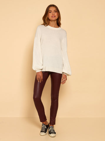 Superluxe Balloon Sleeve Knit - Ivory