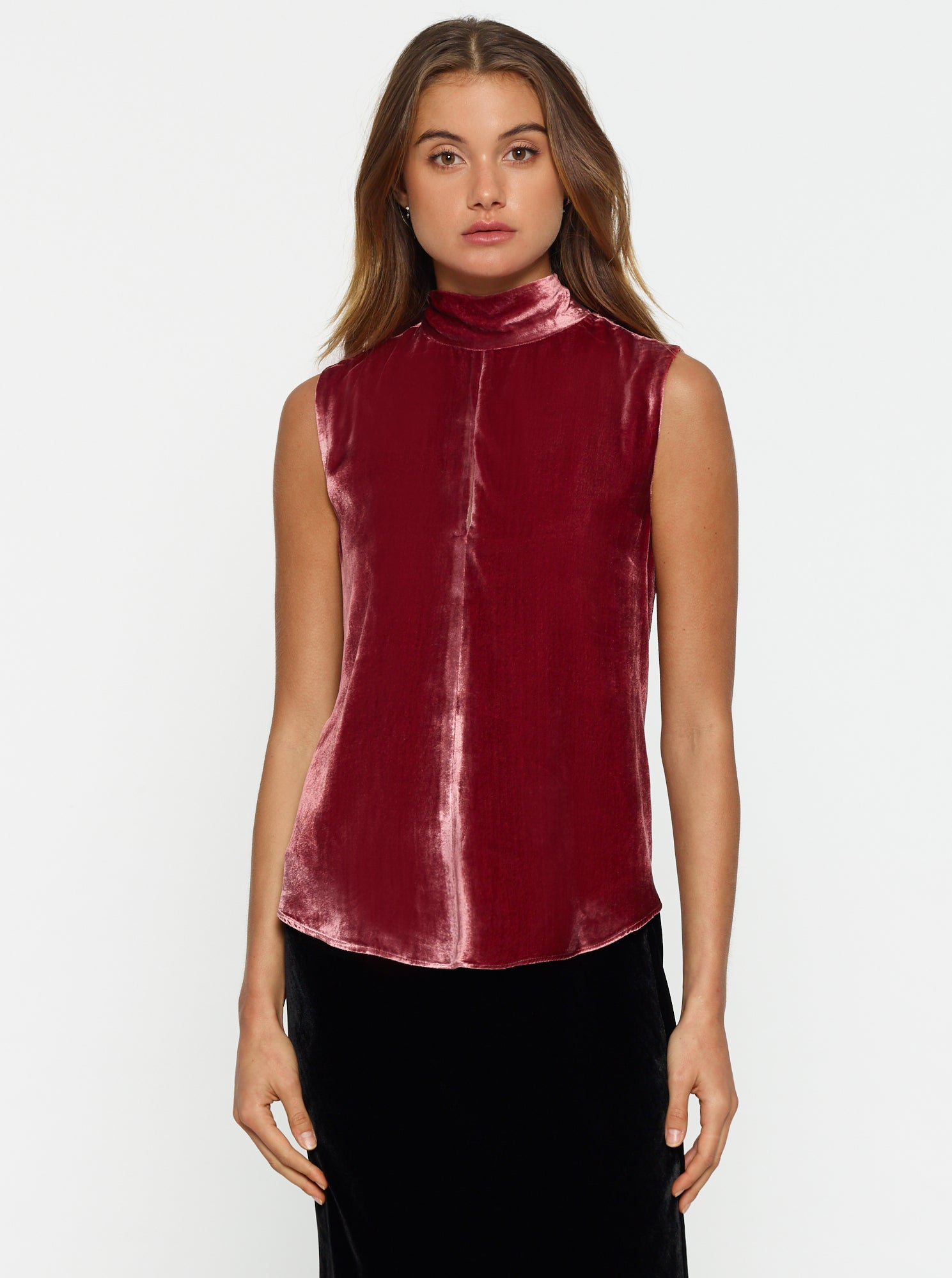 First Love Velvet Sleeveless Top