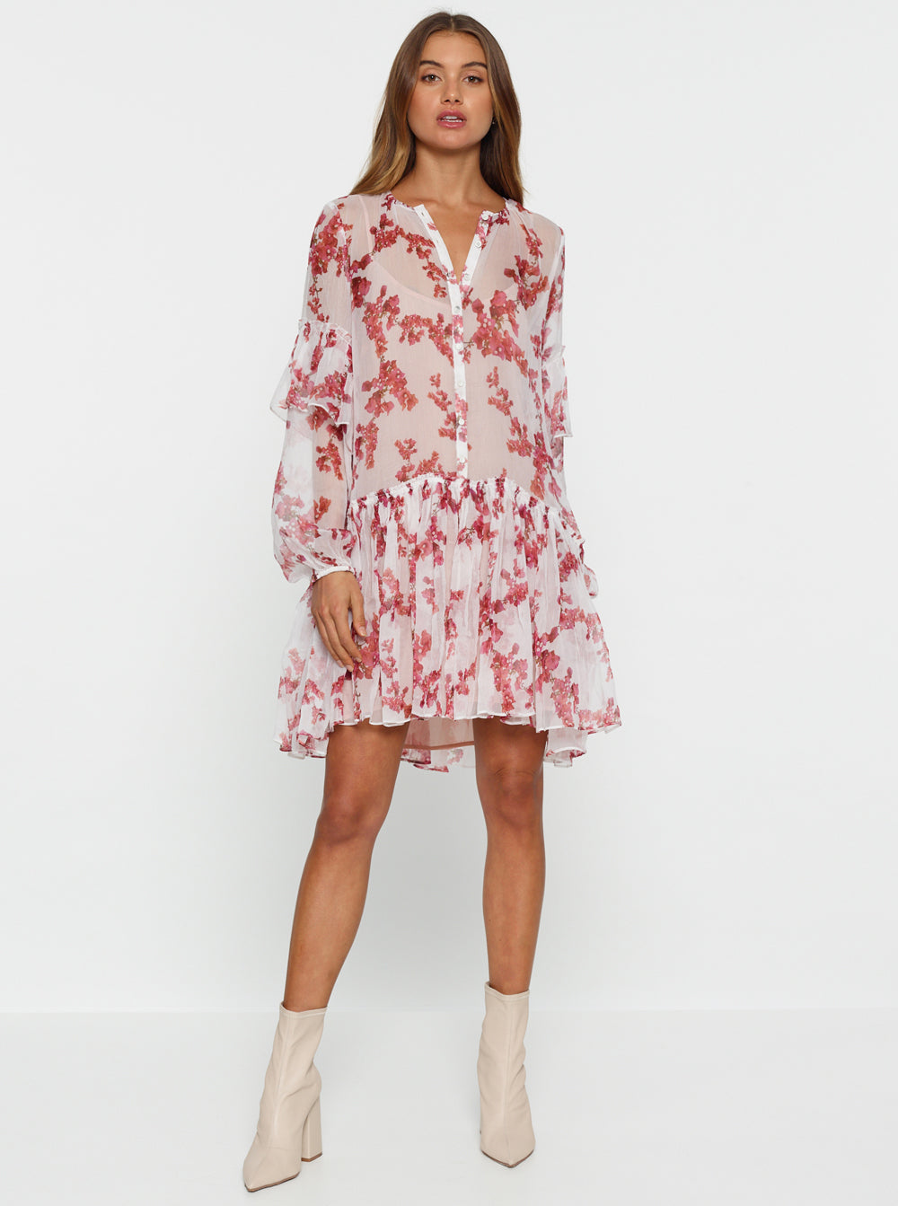These Dreams Silk Oversized Tunic Dress