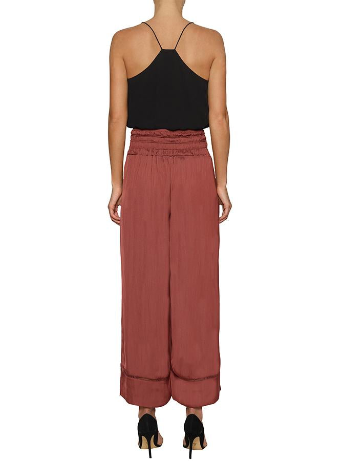 Look Twice Split Leg Pant - Earth