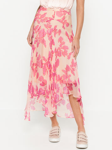 Butterflies Elasticated Midi Skirt