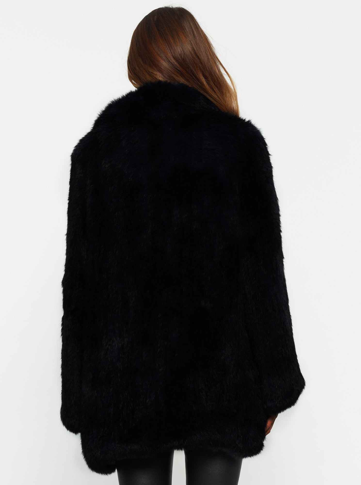 Lush Luxe Fur Relaxed Coat - Black