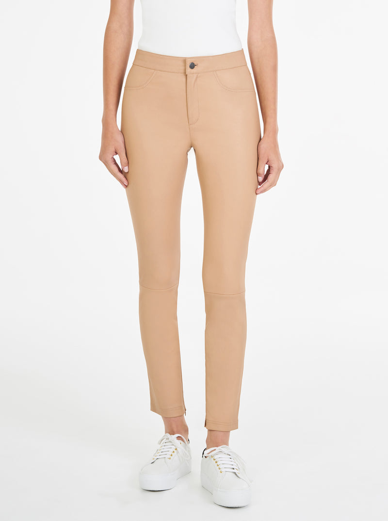 Pure Iconic Stretch Leather Skinny Pant