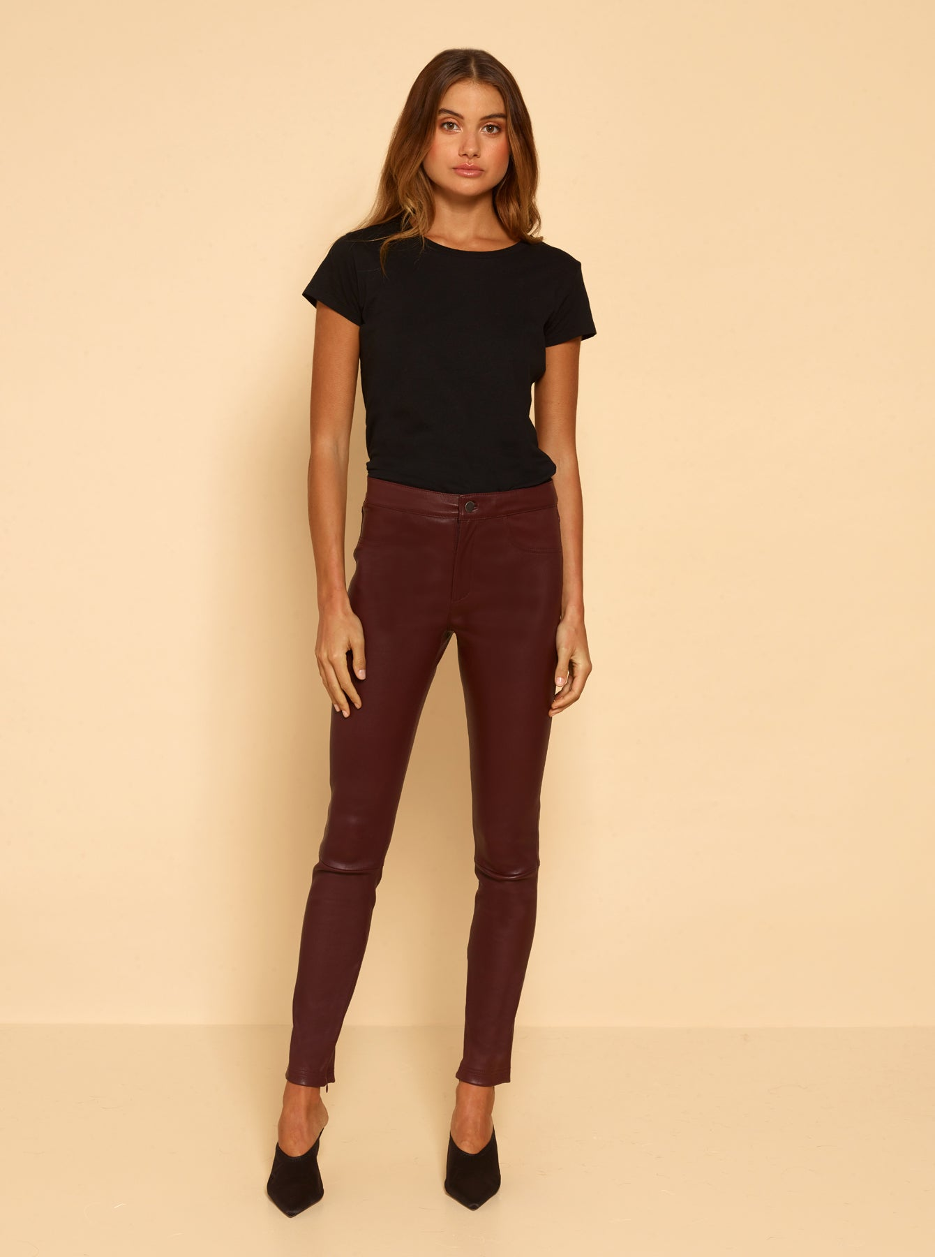 Pure Iconic Skinny Pant - Wine