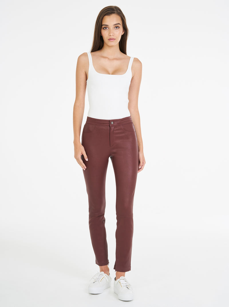 Pure Iconic Stretch Leather Pant