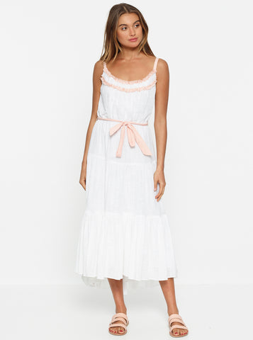 Bahamas Gathered Hem Midi Dress