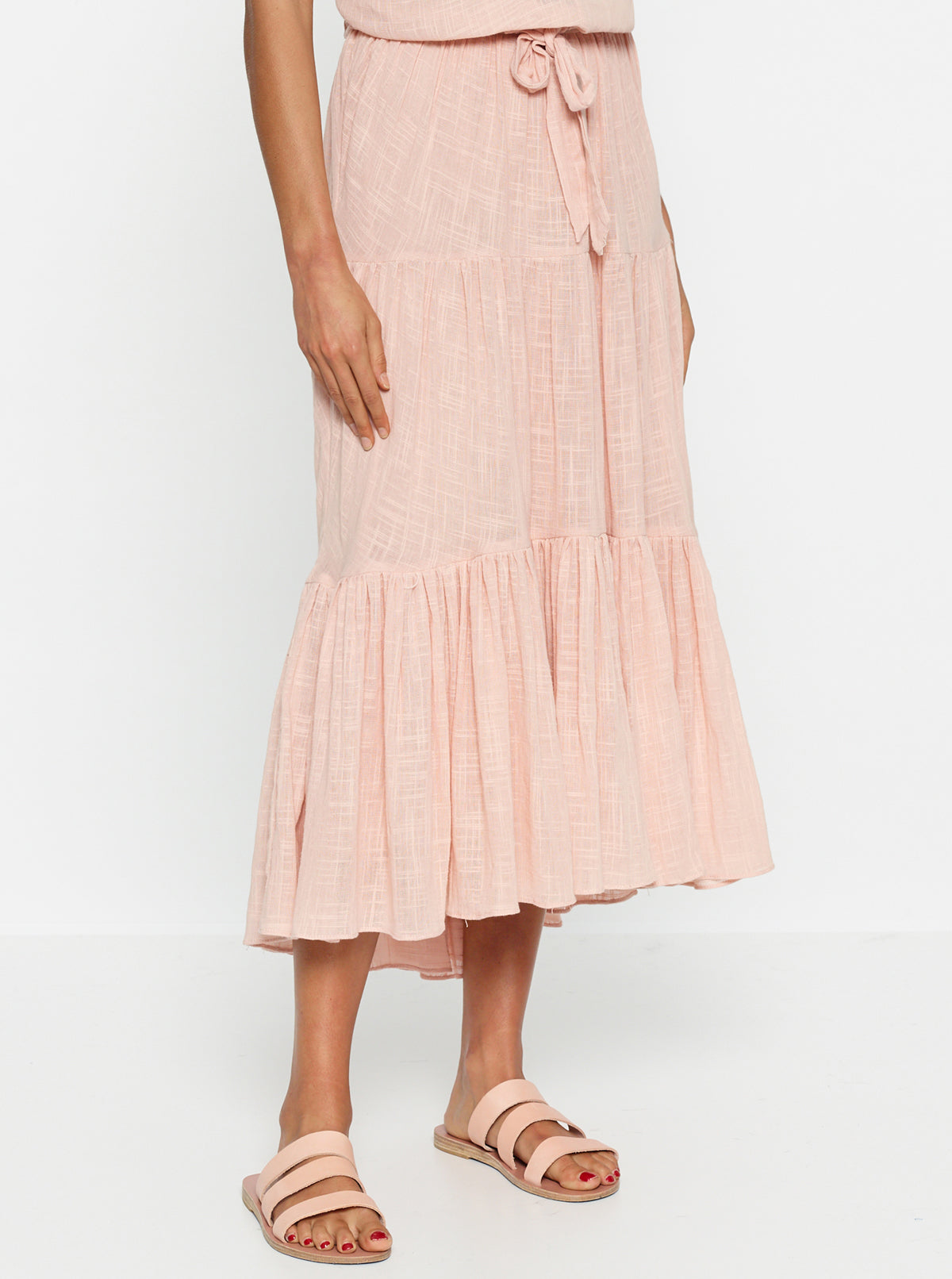 Bahamas Gathered Midi Skirt