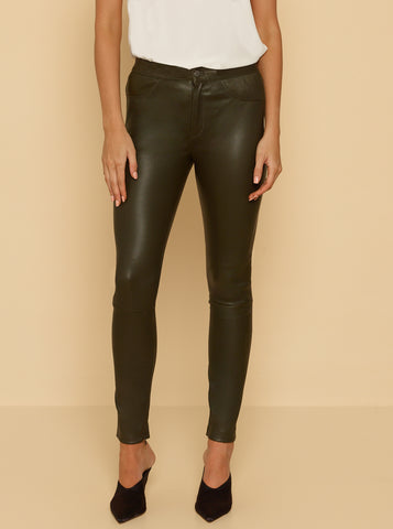 Pure Iconic Skinny Pant - Evergreen