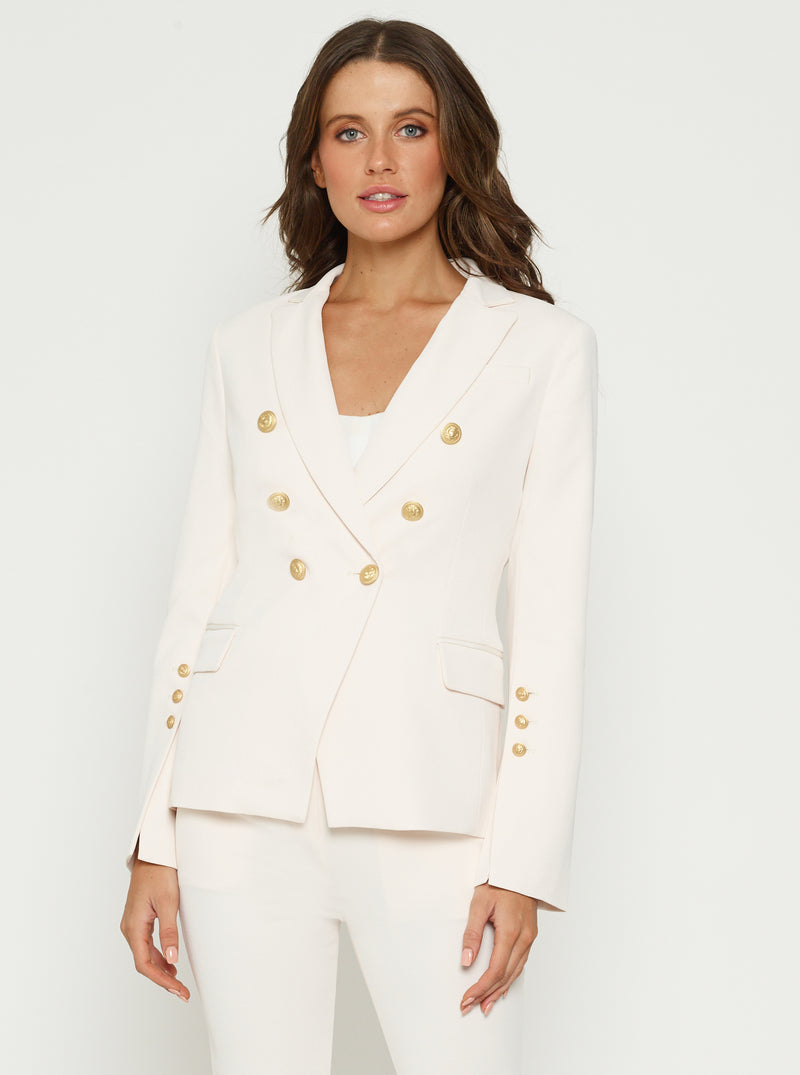 Day To Night Double Breasted Jacket W Gold Buttons