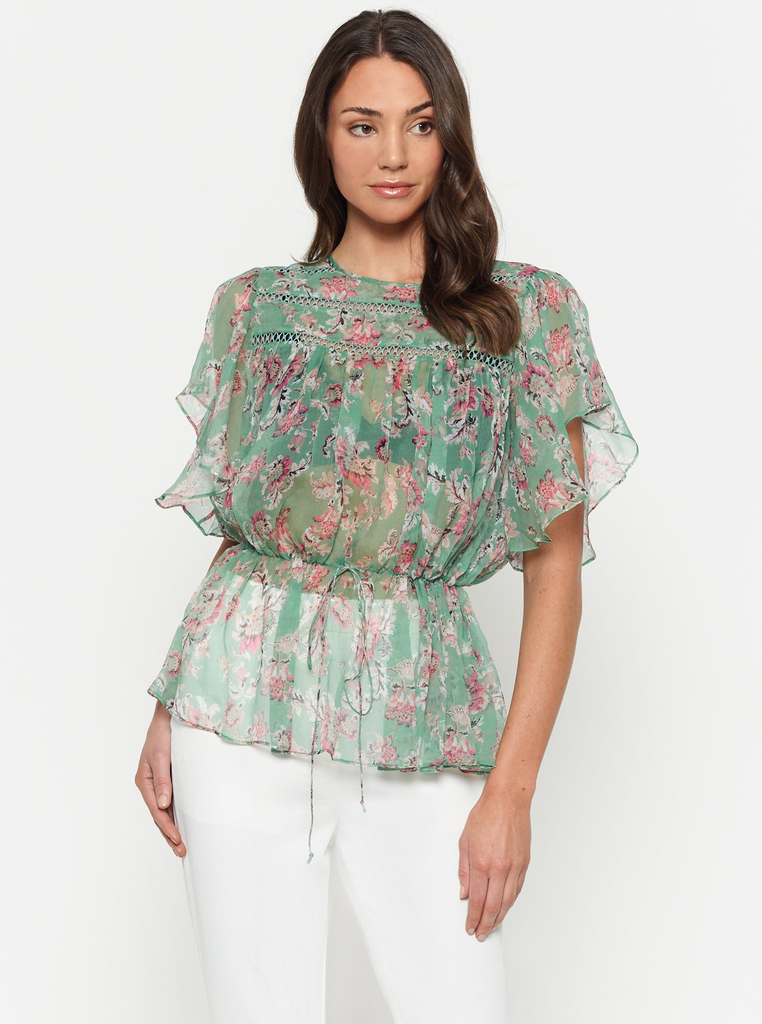 The Real You Silk Short Sleeve Top