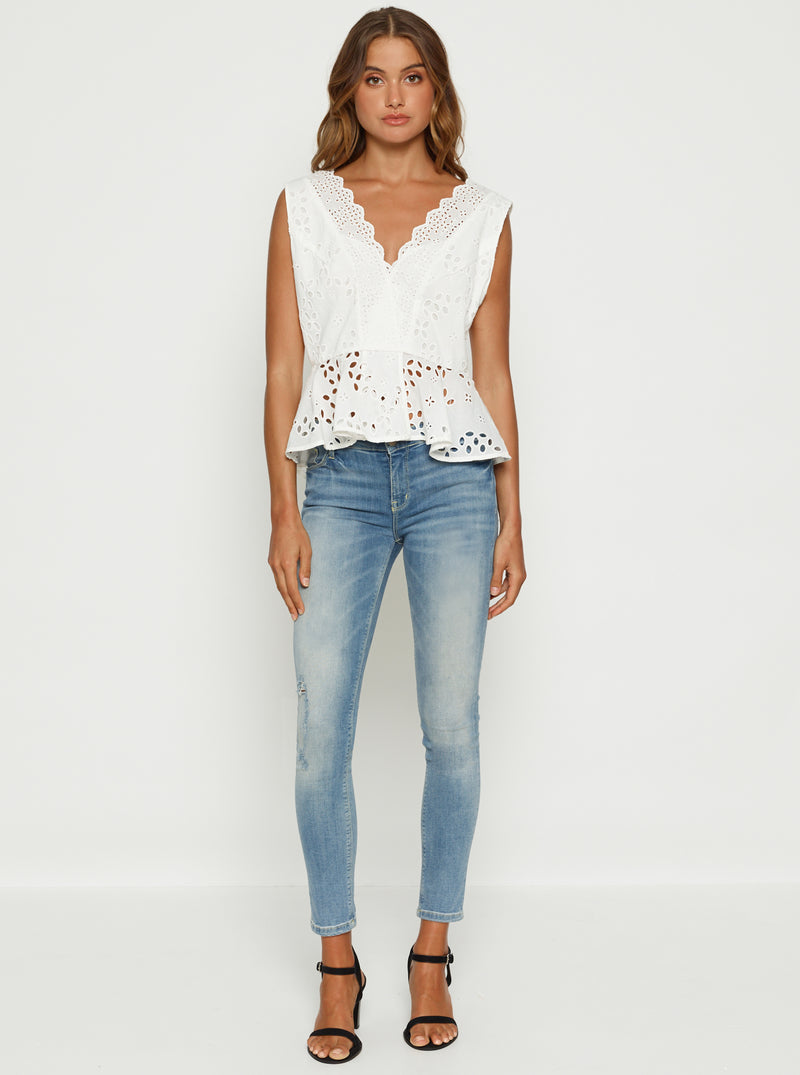 Here Comes The Sun Peplum Top