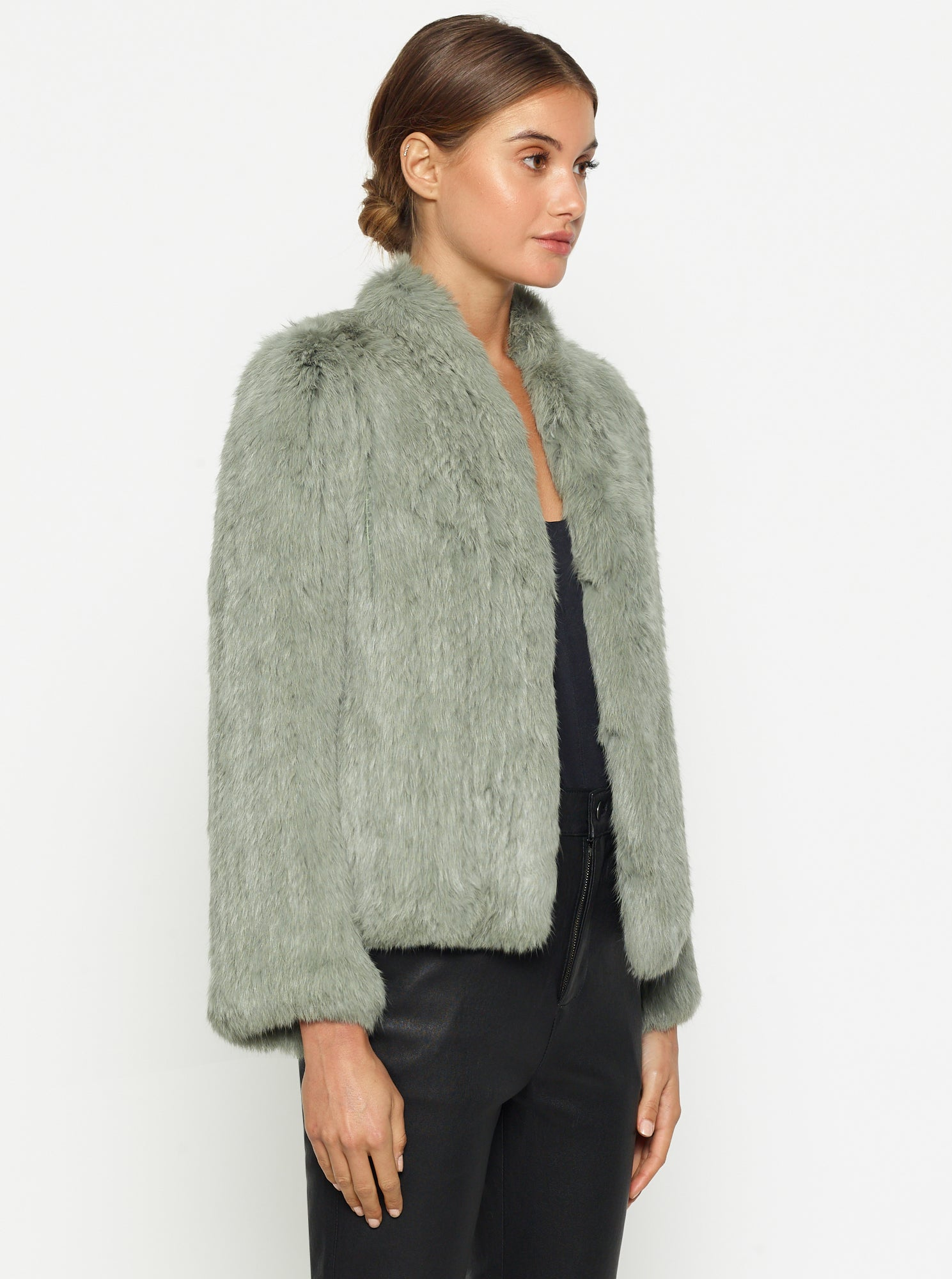 Lush Luxe Fur Jacket - Sage Green