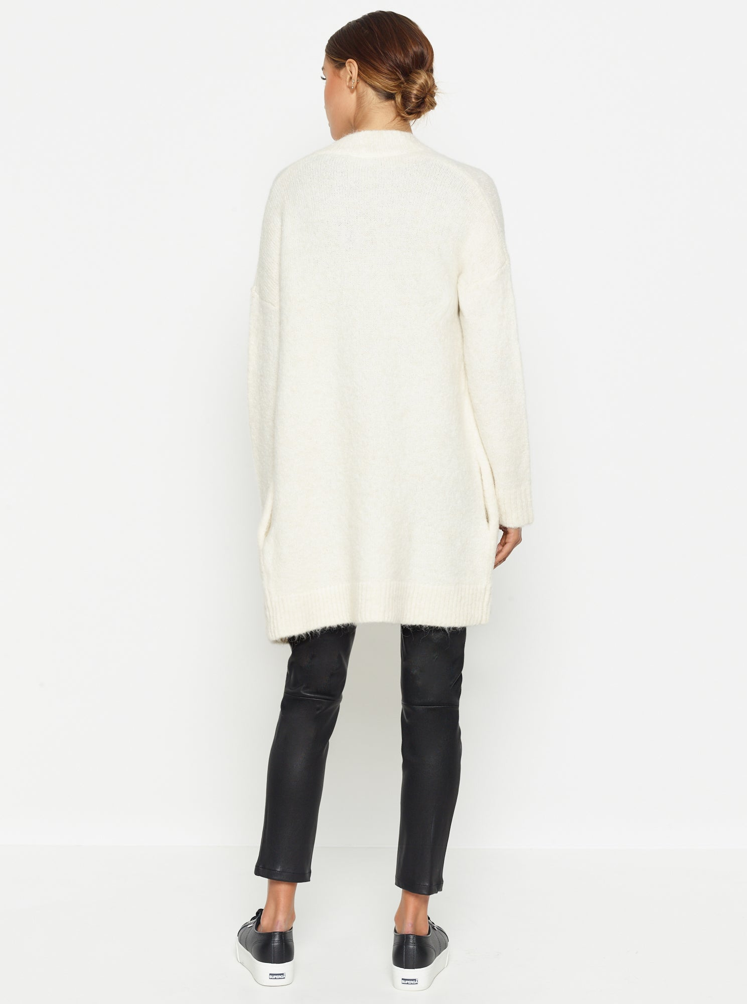 Off Duty Relaxed Slouchy Cardigan - Ivory