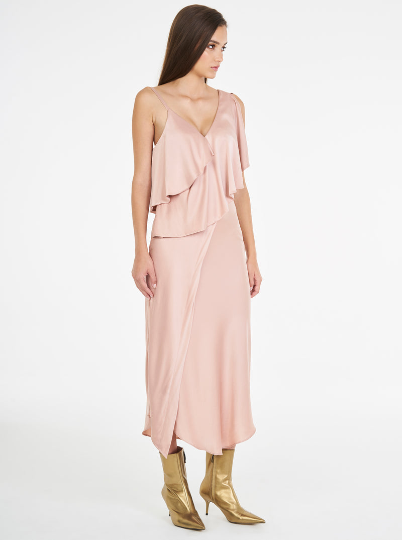 Luxe Silk Midi Dress