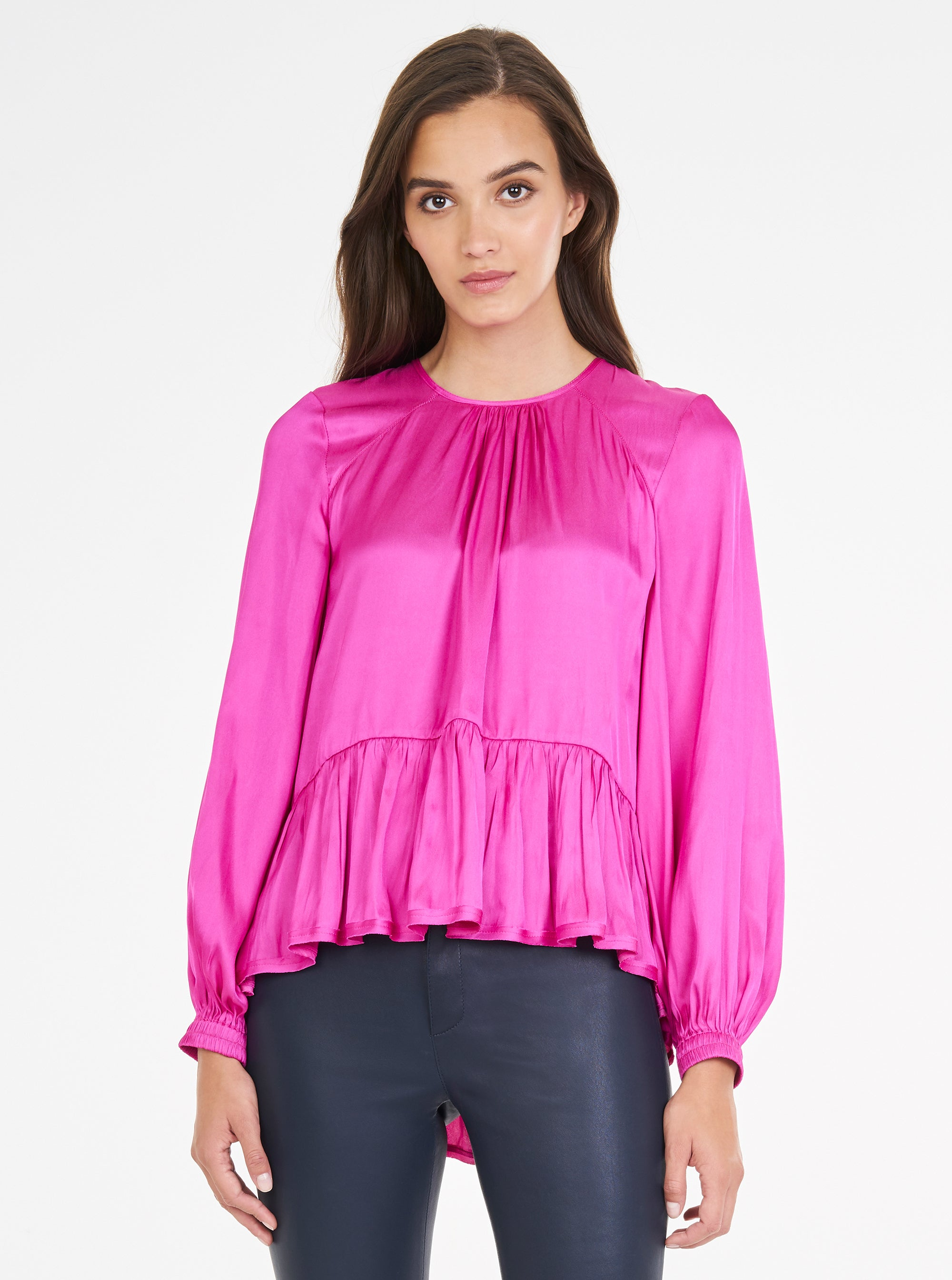 Look Again Balloon Sleeve Top