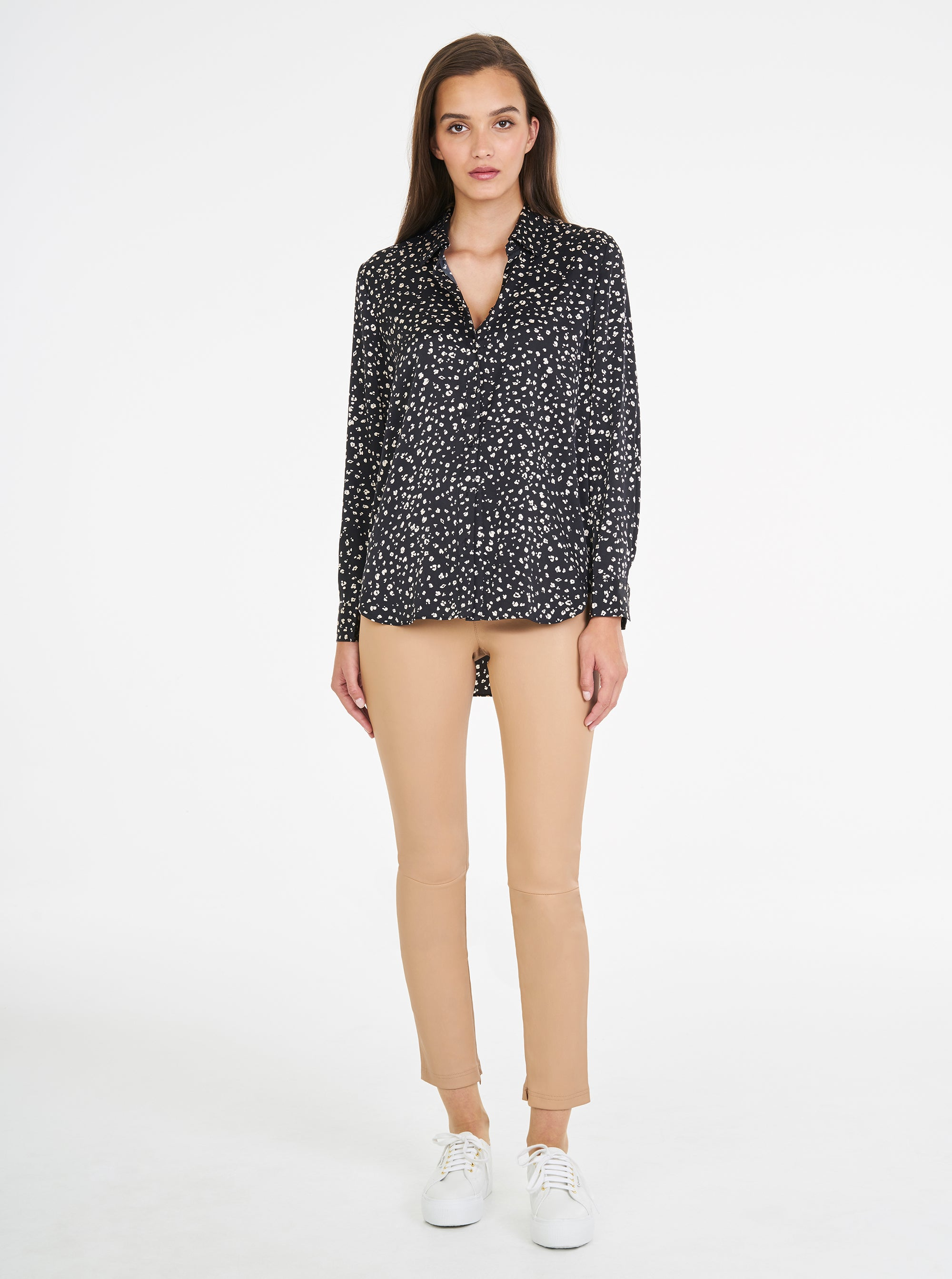 Luxe Silk Animal Print Classic Shirt