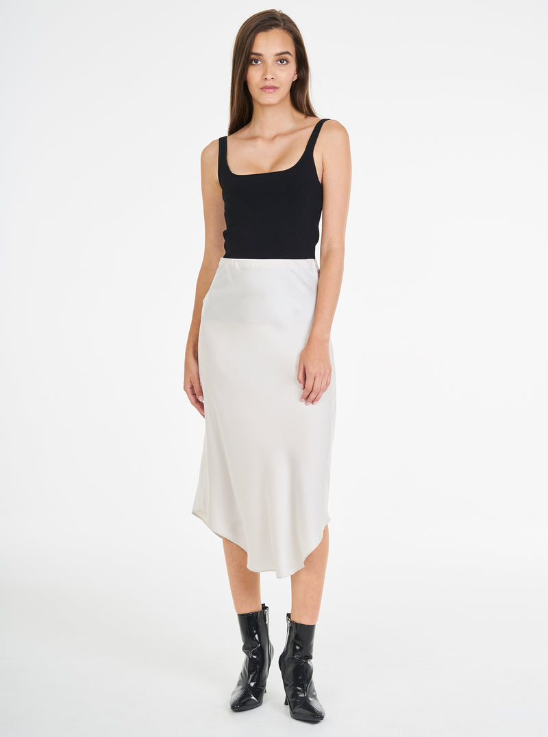 Luxe Silk Bias Skirt