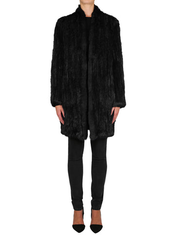 Lush Luxe Fur Coat - Black