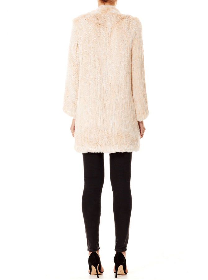Lush Luxe Fur Coat - Blushing