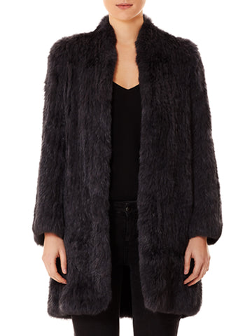 Lush Luxe Fur Coat - Graphite