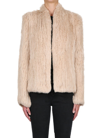 Lush Luxe Fur Jacket - Desert Rose