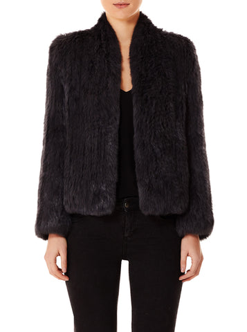 Lush Luxe Fur Jacket - Graphite