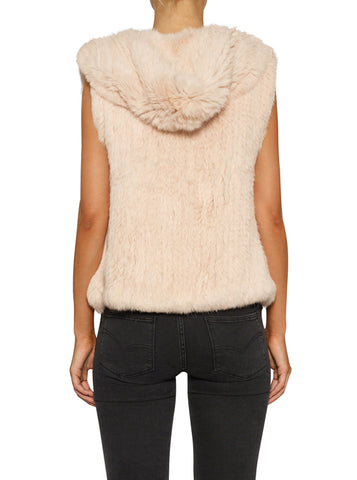 Lush Luxe Hoodie Vest - Nude