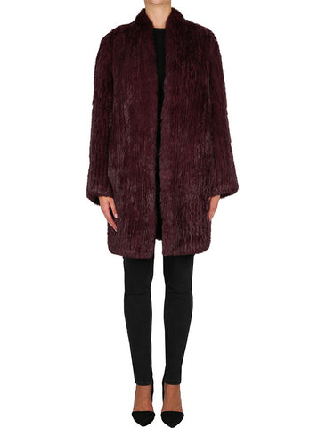 Lush Luxe Long Coat - wine