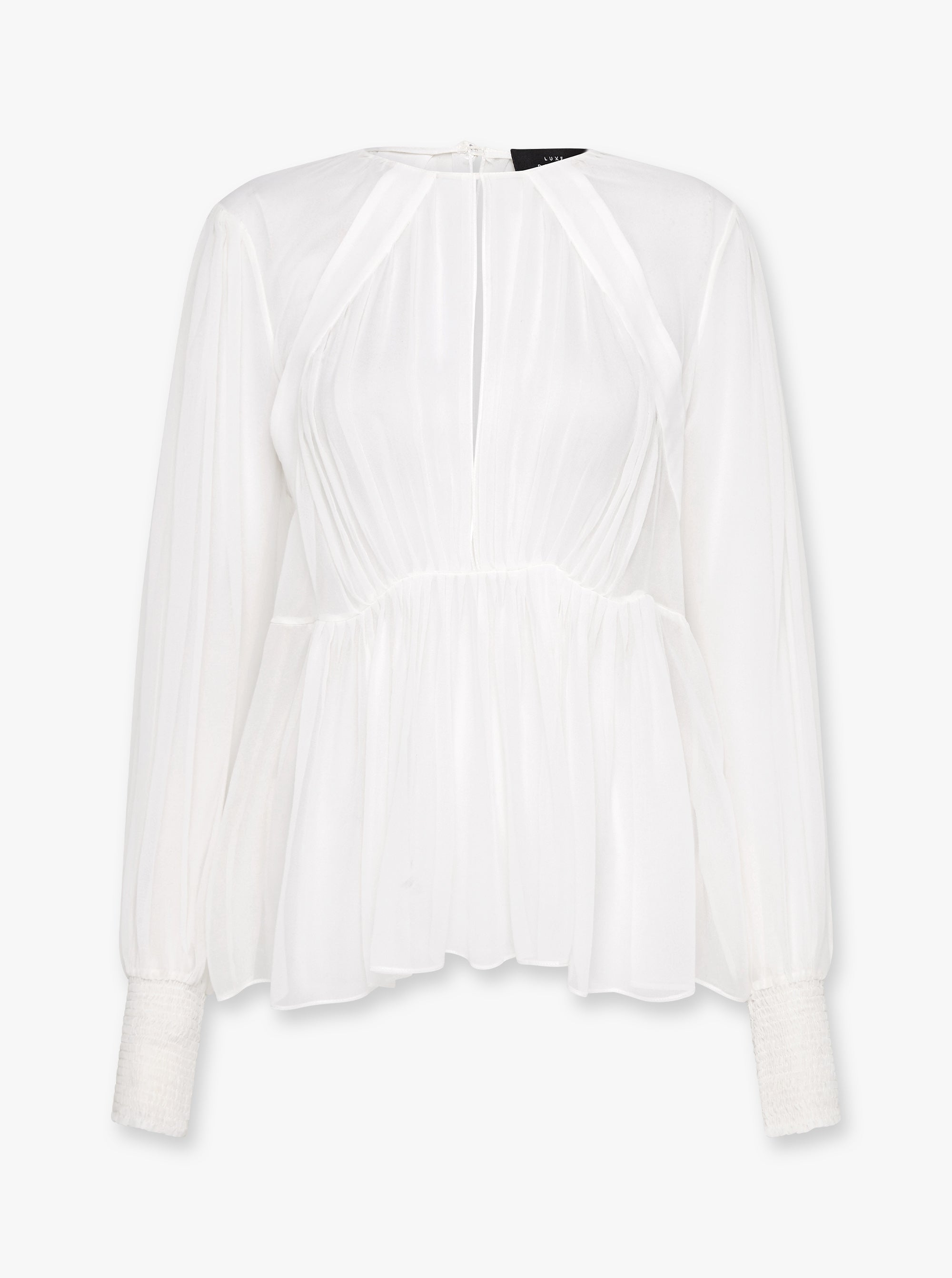 Sheer Fantasy Silk Blouse