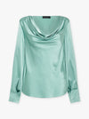 Wild Love Silk Cowl Neck Top
