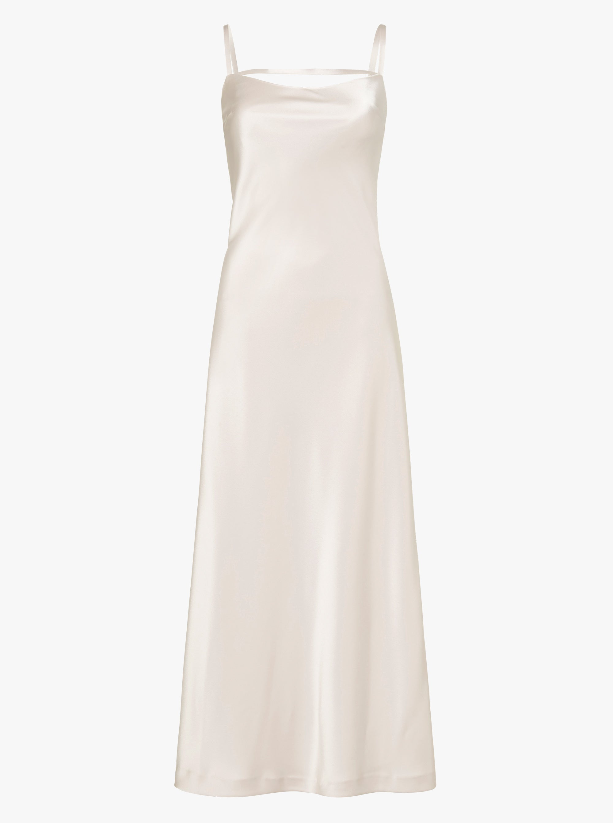 Molten Satin Midi Dress