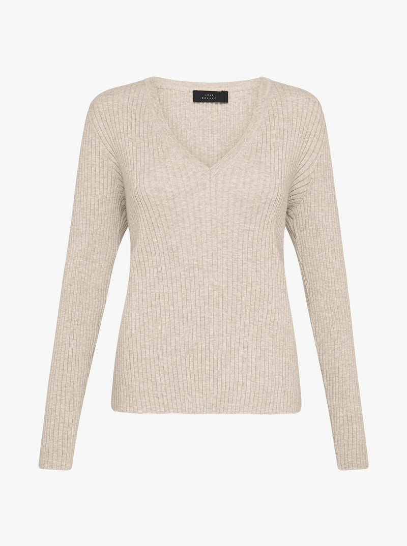 The Skinny V Neck Sweater