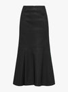 Pure Iconic Stretch Leather Midi Skirt