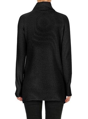 Superluxe Mock Neck Sweater-Black