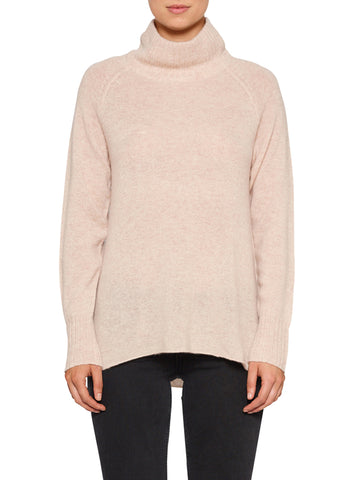 Superluxe Mock Neck Sweater-Soft Rose