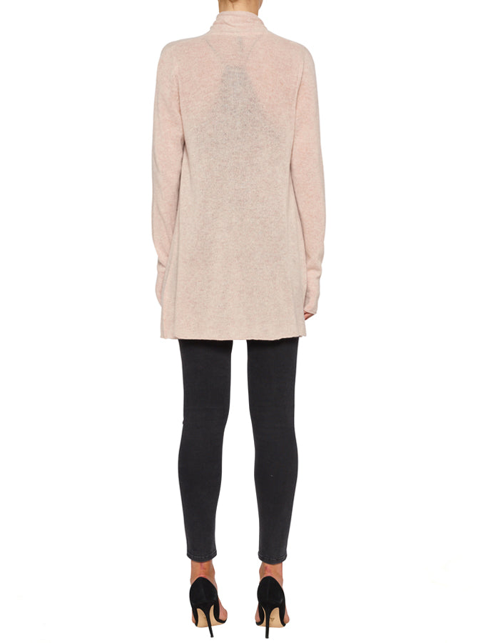 Superluxe Mock Neck Sweater - Soft Rose