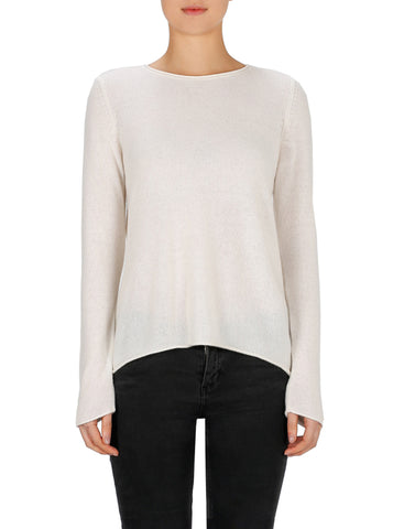 Superluxe Self Roll Crew Neck - Ivory