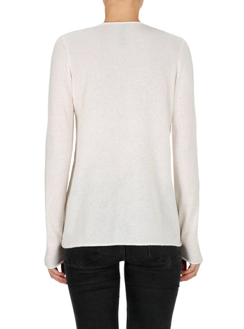 Superluxe Self Roll Crew Neck-Ivory