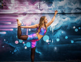 Cosmic Holographic Mesh Cut Out Yoga Pants (More colors and patterns!)
